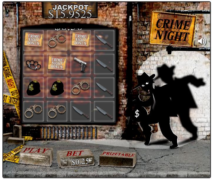 Crime Night in-game image on PlayBitcoinGames.com