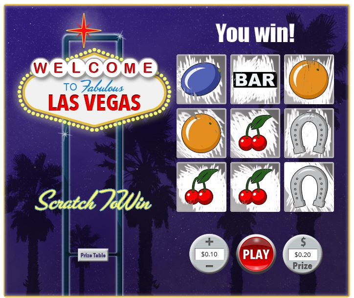 Las Vegas Scratch in-game image on PlayBitcoinGames.com
